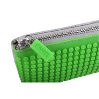 Pixelbags Kalem Kutusu - Gri - Yeşil