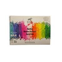 Artwork Renkli Resim Defteri-Açık Fon 25X35 16Yp