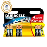 Duracell Turbo Alkalin Pil AA Kalem Pil 4+2'li Paket