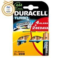 Duracell Turbomax Alkalin AAA İnce Kalem Pil 6'lı Paket