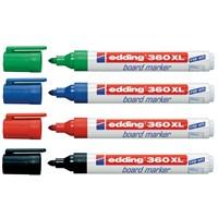 Edding 360Xl Board Marker Beyaz Yazı Tahtası Kalemi Siyah 10 Lu Paket