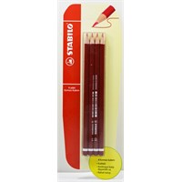 Stabilo Kırmızı Kalem 4'lü Blister 280bl4