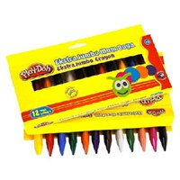 Play-Doh 12 Renk Silinebilir Ekstra Jumbo Mum Boya