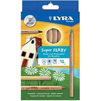Lyra 12 Renk Super Ferby Maxi&Triangular Yüksek Kaliteli Kuru Boya