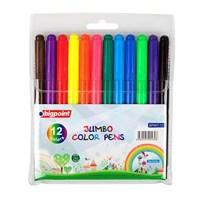 Bigpoint 12 Renk Jumbo Keçeli Kalem Bp907-12