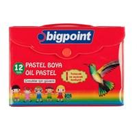 Bigpoint 12 Renk Köşeli Pastel Boya Çantalı 1 Bp741