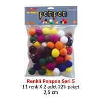 Vincent Renkli Keçe Ponpon Vınponprenkl-S5