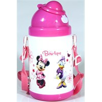 Vardem Disney Minnie Mouse Pipetli Kapaklı Matara (350 Ml)