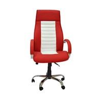Carrera Makam Koltuk Çelikel Ofis Kırmızı Beyaz