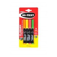 Hi-Text K.Tipi Fosforlu Kalem Karışık 4'Lü