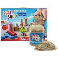 Play Sand Kinetik Kum + Kum Havuzu + 16 Parça Kalıp