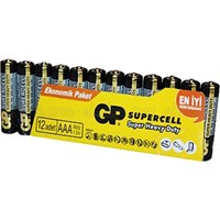 GP 12'li Supercell AA Boy Kalem Çinko Karbon Pil (GP15PL-VS12)