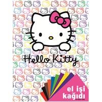 Hello Kitty Dosyali El İşi Kağıdı - 10 Renk Karışık