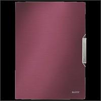 Leitz Style İnce Lastikli Dosya Garnet Kırmızısı 39770028
