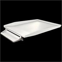 Leitz Style Kalemlikli Gümüş Çerçeveli Evrak Rafı Kutup Beyazı 52560004