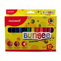 Monami Bungee Keçeli Kalem-12'Li Yıkanabilir