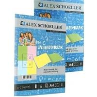 Alex Schoeller Renkli Bloknot 80 Gr 60 Yaprak Çizgili