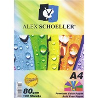 Alex Schoeller Renkli Fotokopi Kağıdı A4 80 Gr 50'Li Karışık Renk