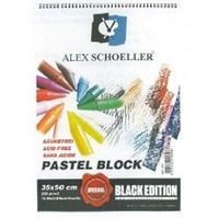 Alex Schoeller Pastel Blok Spiralli 35 X 50 220 Gr Siyah