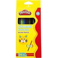 Play-Doh Ku011 24 Renk 12'Li Bicolor Kuru Boya Kalemi