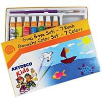 Artdeco Kids Y-501-S7 Guaj Boya Seti 7 Renk 6Ml.