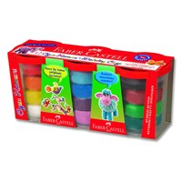 Faber-Castell Plastik Kutu Oyun Hamuru 12 Renk (5170120832)