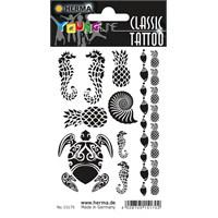 Herma Young Line Siyah/Beyaz Dövmeler Karayipler 15170