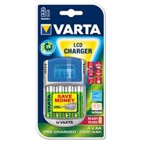 Varta Lcd Charger 4Xaa 2400Mah + 12V + Usb 57070201441