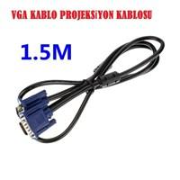 Magic 1.5 Mt Vga Kablo Monitör Projeksiyon Kablosu Siyah