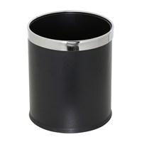 Tilki Dünyası Siyah Renkli Çelik Çöp Kovası