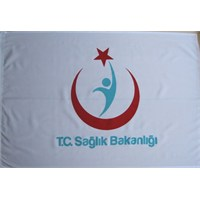Ekin Bayrakçılık Sağlık Bakanlığı Logolu Direk Bayrağı 70X105cm