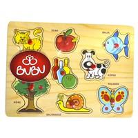 Bu-Bu Ahşap Puzzle Hayvanlar Bubu-Ap0032