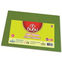 Bu-Bu Simli Karton Yeşil 50X70 Bubu-Fk0007