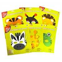 Bu-Bu Eva Maske Standı 6'Lı(Kaplan/Em0001)-(Kurbağa/Em0002)-(Zebra/Em0003)-(Aslan/Em0004)-(U.Böceği/Em0005)-(Zürafa/Em0006) Bubu-Ems001