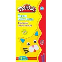 Play-Doh 12 Renk Üçgen Kuru Boya Play-Ku012