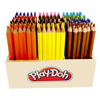Play-Doh 12 Renk Üçgen Kuruboya 144'Lü Ahşap Stand Play-Ku018