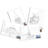 Ceo Art 35X50 Desenli Tuval(Boyasız) (Taksim Treni,Ayasofya,Galata,Kız Kulesi) Ceo-Tu0002