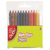 Bu-Bu 12 Renk Mum Boya Crayon Yarım Boy Bubu00067