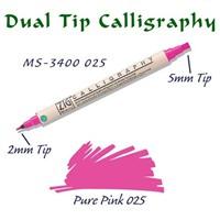 Zig Calligraphy Pen Çift Uçlu Kaligrafi Kalemi 2 Mm - 5 Mm Pure Pink
