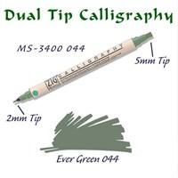 Zig Calligraphy Pen Çift Uçlu Kaligrafi Kalemi 2 Mm - 5 Mm Ever Green