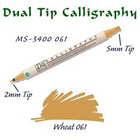 Zig Calligraphy Pen Çift Uçlu Kaligrafi Kalemi 2 Mm - 5 Mm Wheat