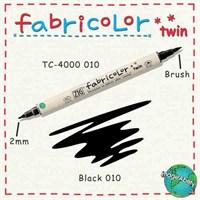 Zig Fabricolor Twin Brush Pen Çift Uçlu Kumaş Boyama Kalemi Black