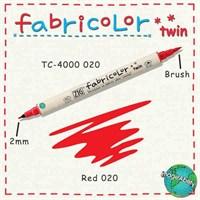 Zig Fabricolor Twin Brush Pen Çift Uçlu Kumaş Boyama Kalemi Red