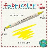 Zig Fabricolor Twin Brush Pen Çift Uçlu Kumaş Boyama Kalemi Yellow