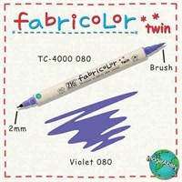 Zig Fabricolor Twin Brush Pen Çift Uçlu Kumaş Boyama Kalemi Violet