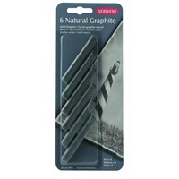 Derwent Natural Graphite Grafit Blok 6'Lı Blister