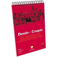 Clairefontaine Dessin - Croquis White Spiralli Çizim Defteri 50 Yaprak 120 Gr. A3