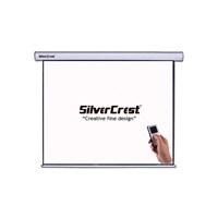 Silvercrest 180X180cm Glass Beads(Cam Tozlu) Motorlu Projeksiyon Perdesi