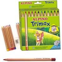 Alpino Trimax Jumbo Üçgen 12Li Kuru Boya Al000113