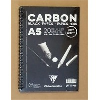 Clairefontaine Resim Defteri Carbon A5 Siyah Defter 20 Yaprak 97617